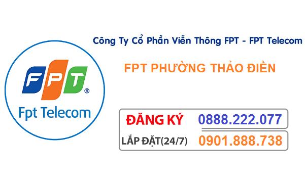 đăng ký internet fpt phường thảo điền
