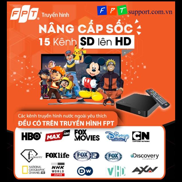 fpt nâng cấp 15 kênh truyền hình quốc tế