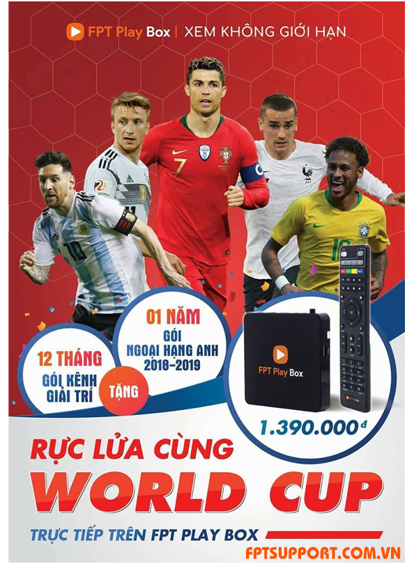 World Cup 2018 với fpt play box